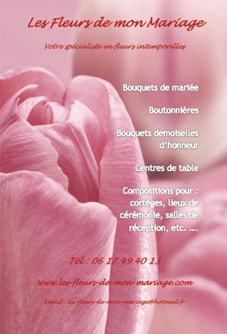 cartes de visite fleuristes pr233paration mariage de l