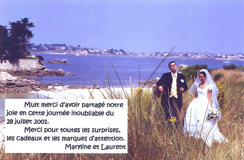 la carte de remerciement du mariage des webmestres de pmcom - Exemple Felicitation Mariage