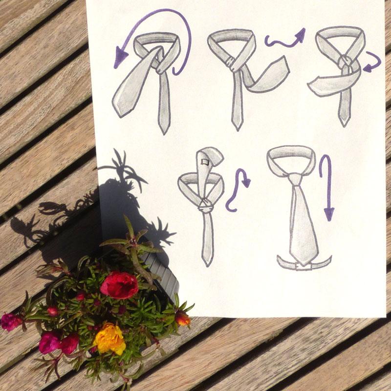 comment faire un beau noeud de cravate le windsor pr paration mariage de l 39 organisation. Black Bedroom Furniture Sets. Home Design Ideas