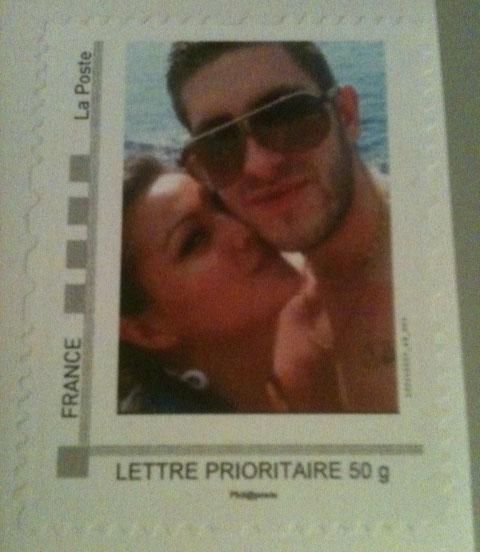 le timbre personnalis de mylne et jrmy - Timbres Personnaliss Mariage