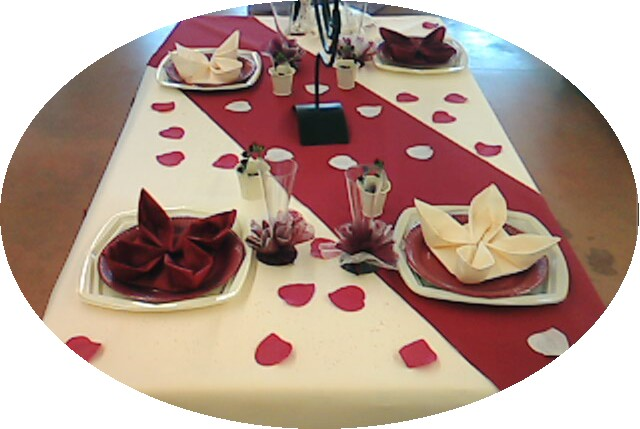 decoration mariage bordeaux ivoire pas cher